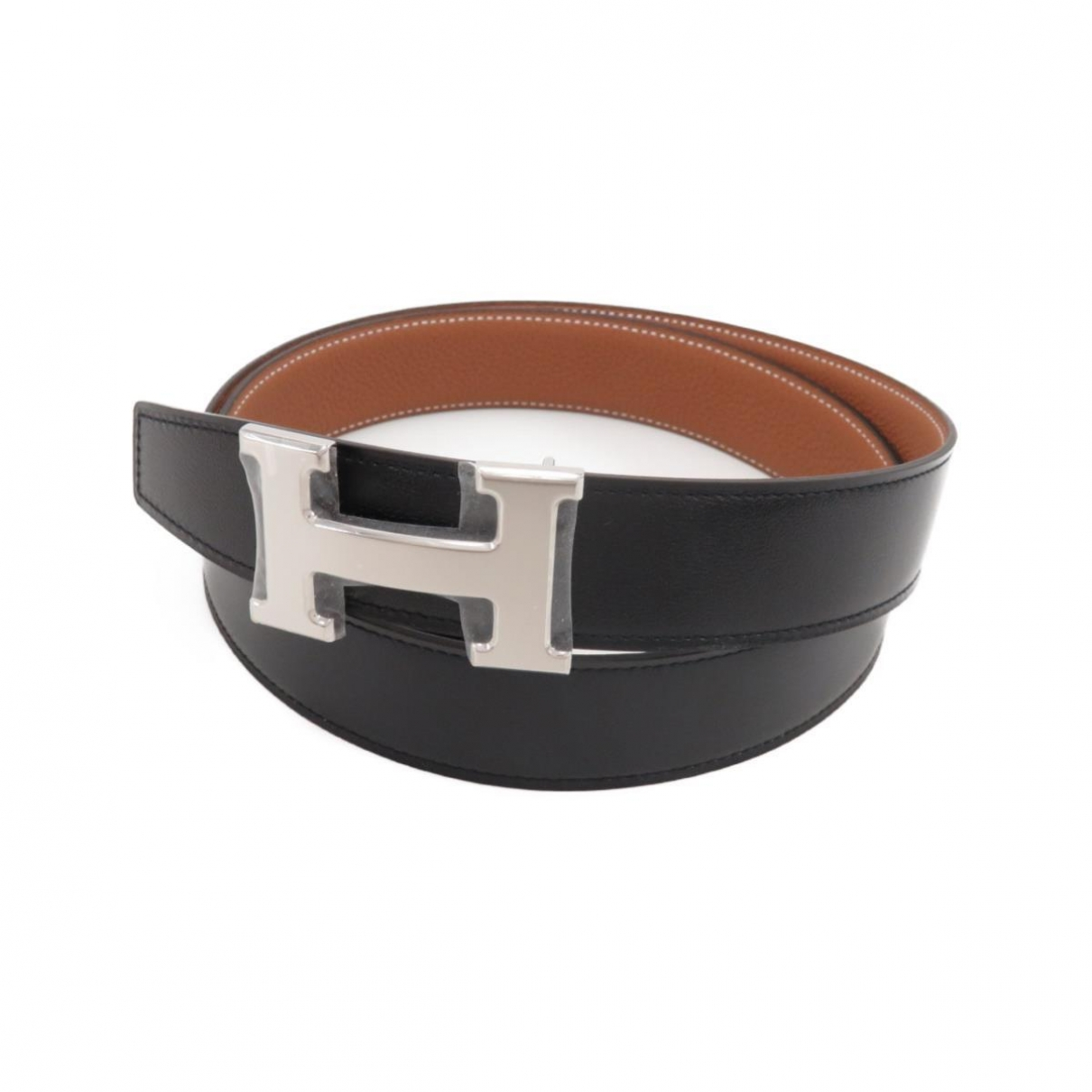 Hermès H Black Leather belt for Women 95 cm