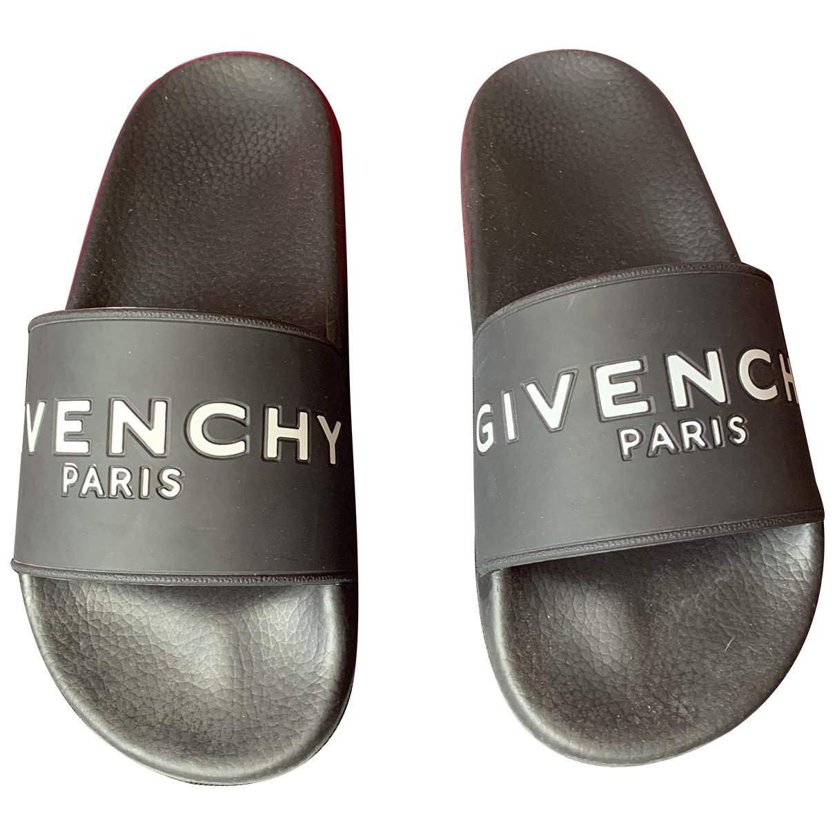 Givenchy \N Sandalen in  Schwarz Kautschuk