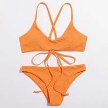 Bañador bikini con cordon trasero de canale