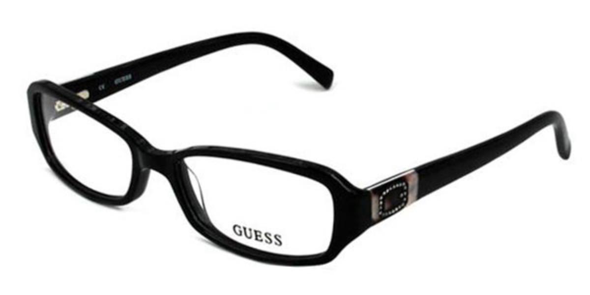Guess GU 2366 B84 Women's Glasses Black Size 53 - Free Lenses - HSA/FSA Insurance - Blue Light Block Available