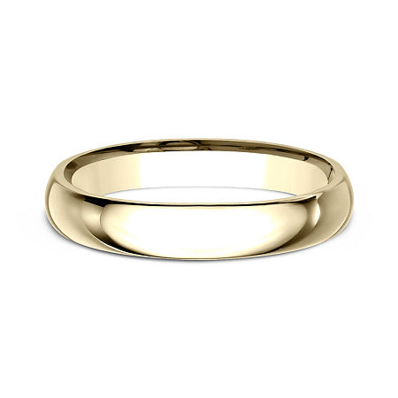 Womens 10K Yellow Gold 3MM Comfort-Fit Wedding Band, 8 1/2 , No Color Family