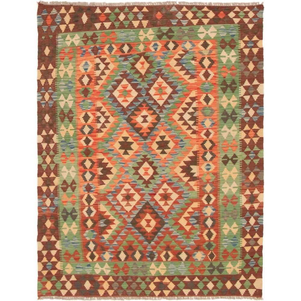 ECARPETGALLERY Flat-weave Kashkoli FW Red Wool Kilim - 4'9 x 6'3 (Red - 4'9 x 6'3)