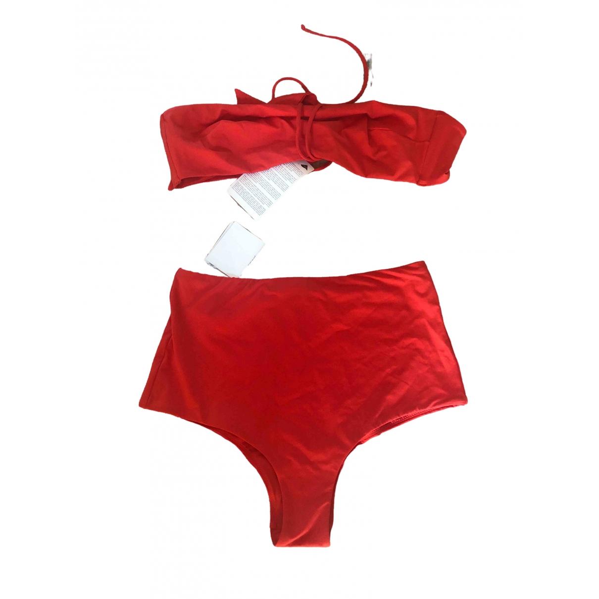 La Perla \N Badeanzug in  Rot Lycra