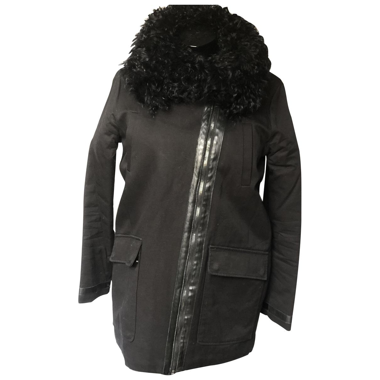 Maje \N Black Cotton coat for Women 2 US