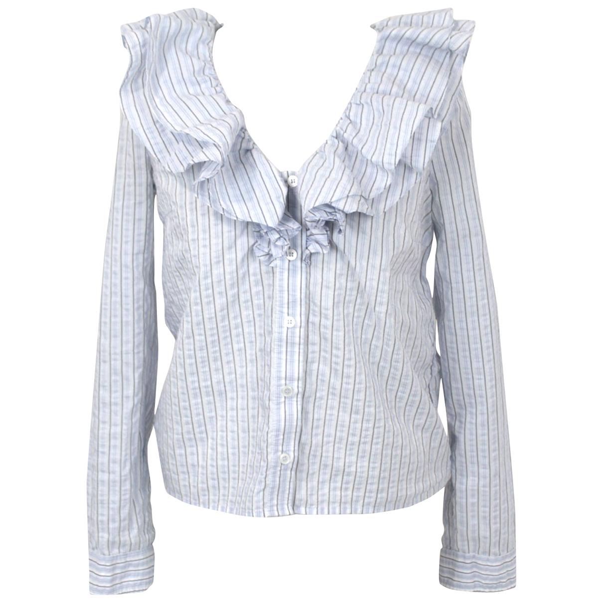 Ganni \N Blue Cotton  top for Women 36 FR