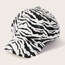 Zebra Striped Pattern Bakerboy Cap