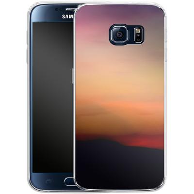 Samsung Galaxy S6 Silikon Handyhuelle - Sunset von Joy StClaire