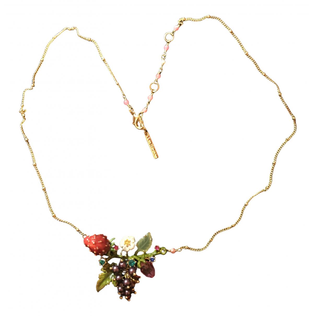 Les Néréides N Multicolour Gold plated necklace for Women N