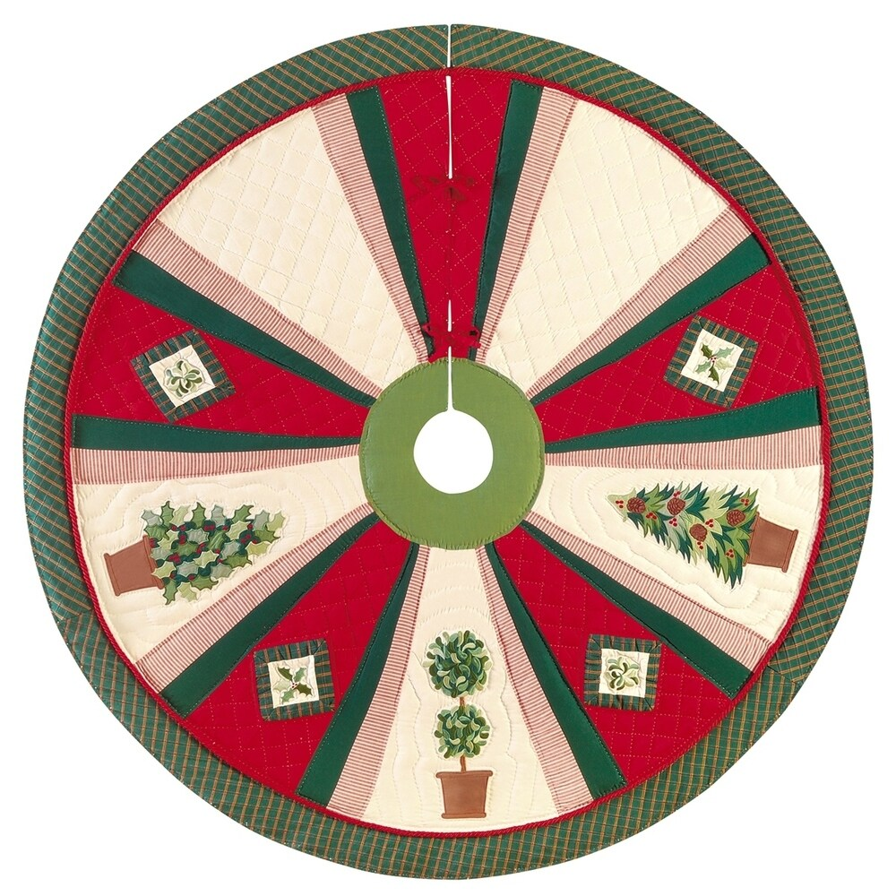 Festive Topiaries Christmas Tree Skirt - 54