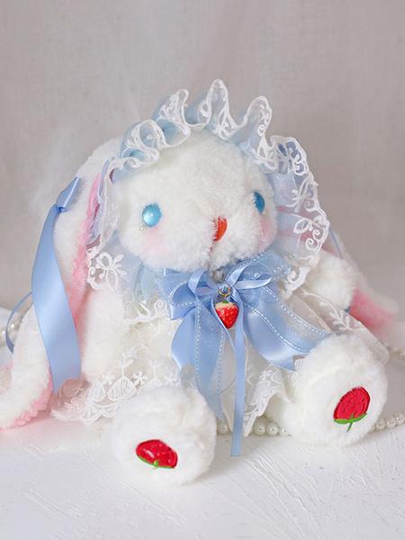 Milanoo Sweet Lolita Bag Bunny LacePearls Bow Shoulder Bag