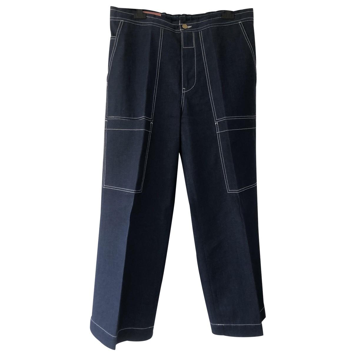 Acne Studios \N Navy Cotton Jeans for Men 42 FR