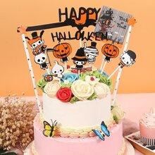 11 piezas decoracion de pastel con patron de Halloween