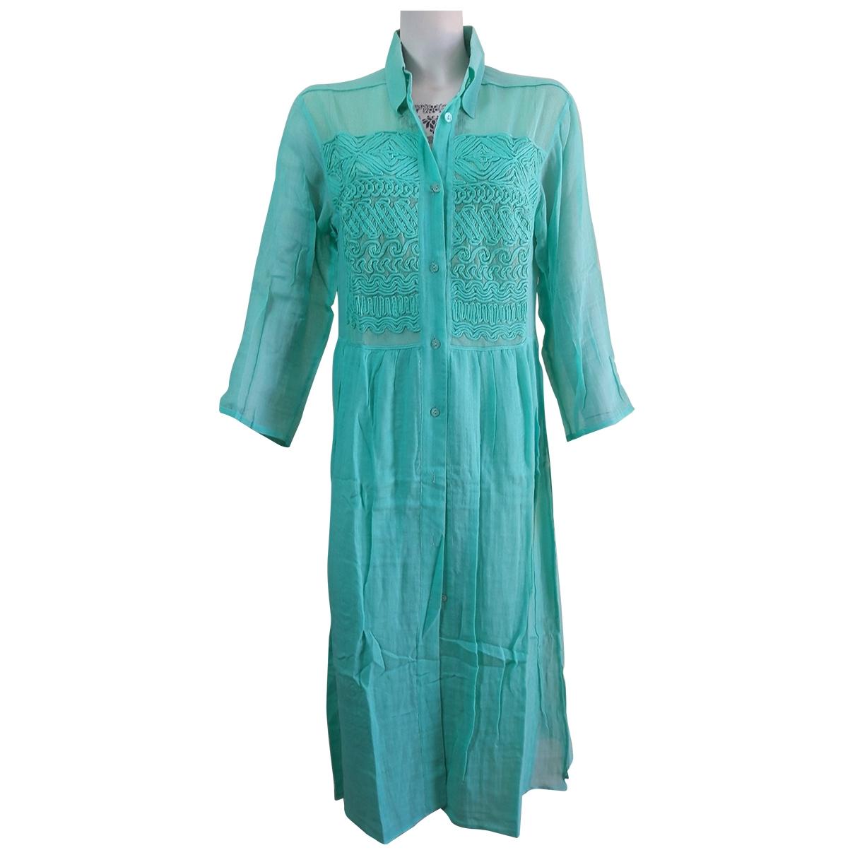 La Perla \N Green Cotton dress for Women 44 IT