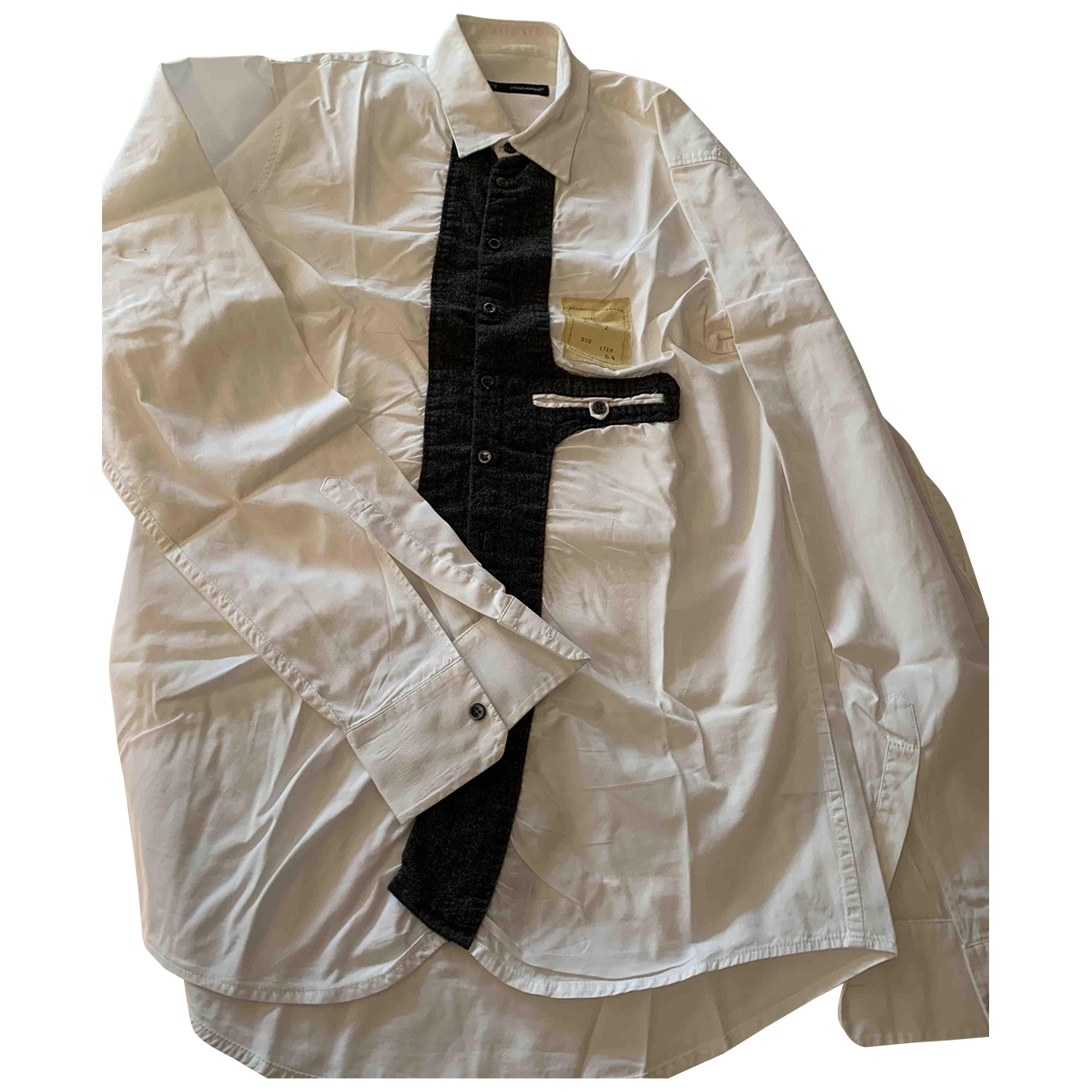 Dsquared2 \N White Cotton Shirts for Men M International