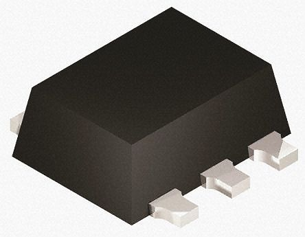 ON Semiconductor Dual P-Channel MOSFET, 1.5 A, 30 V, 6-Pin SOT-363  MCH6664-TL-W (50)