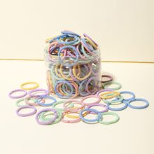 100pcs Toddler Girls Simple Hair Tie