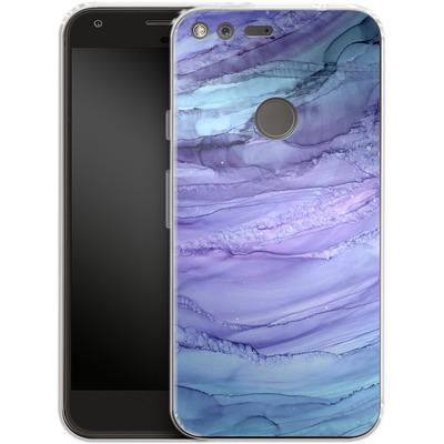 Google Pixel XL Silikon Handyhuelle - Mermaid Marble von Becky Starsmore