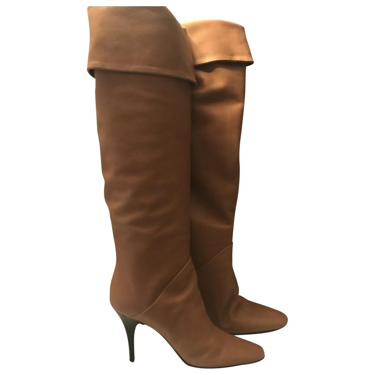 Giuseppe Zanotti \N Camel Leather Boots for Women 39 EU