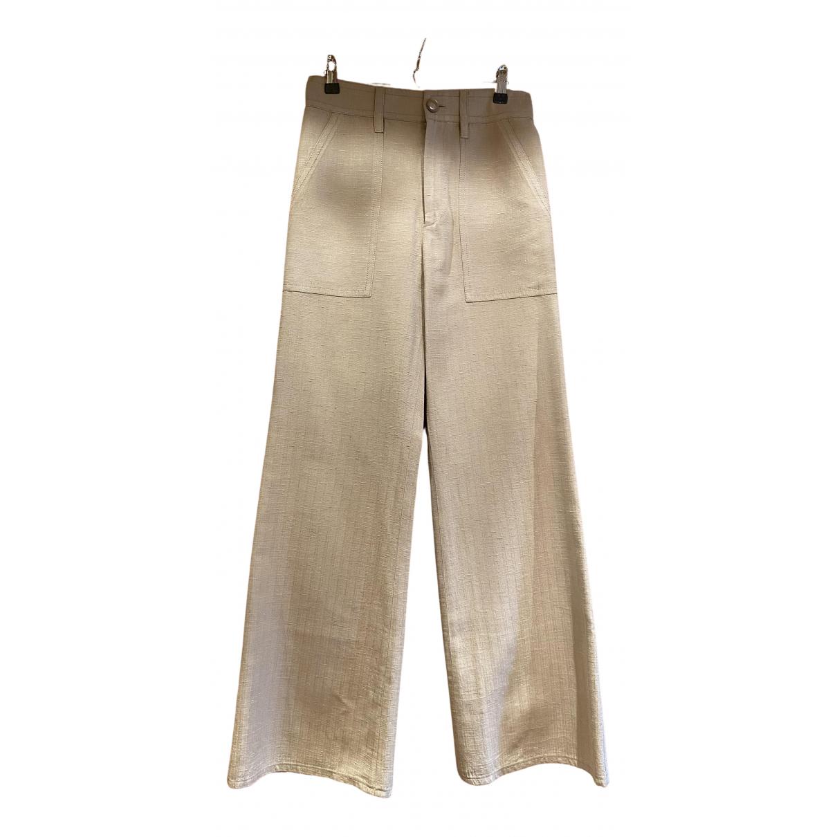 Marc Jacobs - Pantalon   pour femme en lin - beige