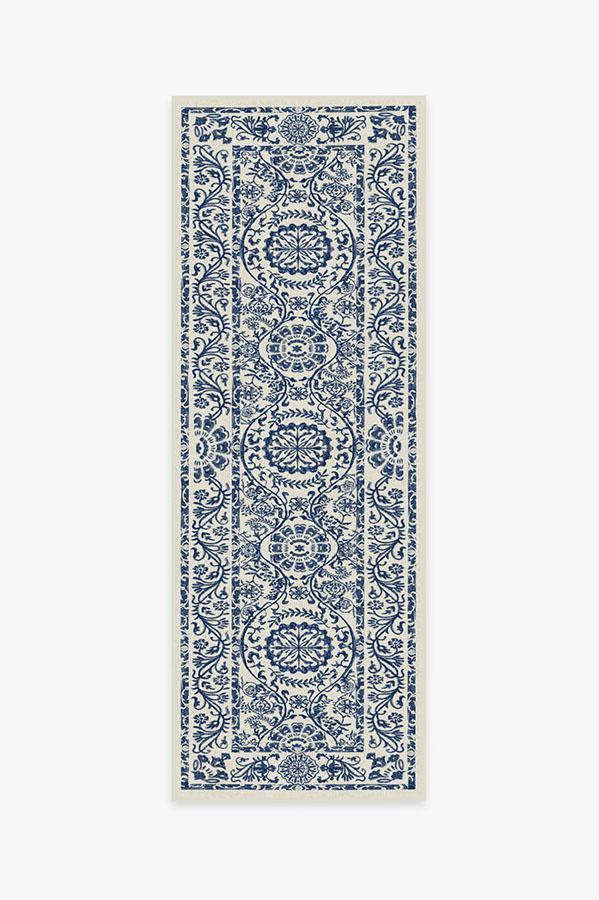 Washable Rug Cover | Delphina Delft Blue Rug | Stain-Resistant | Ruggable | 2.5x7