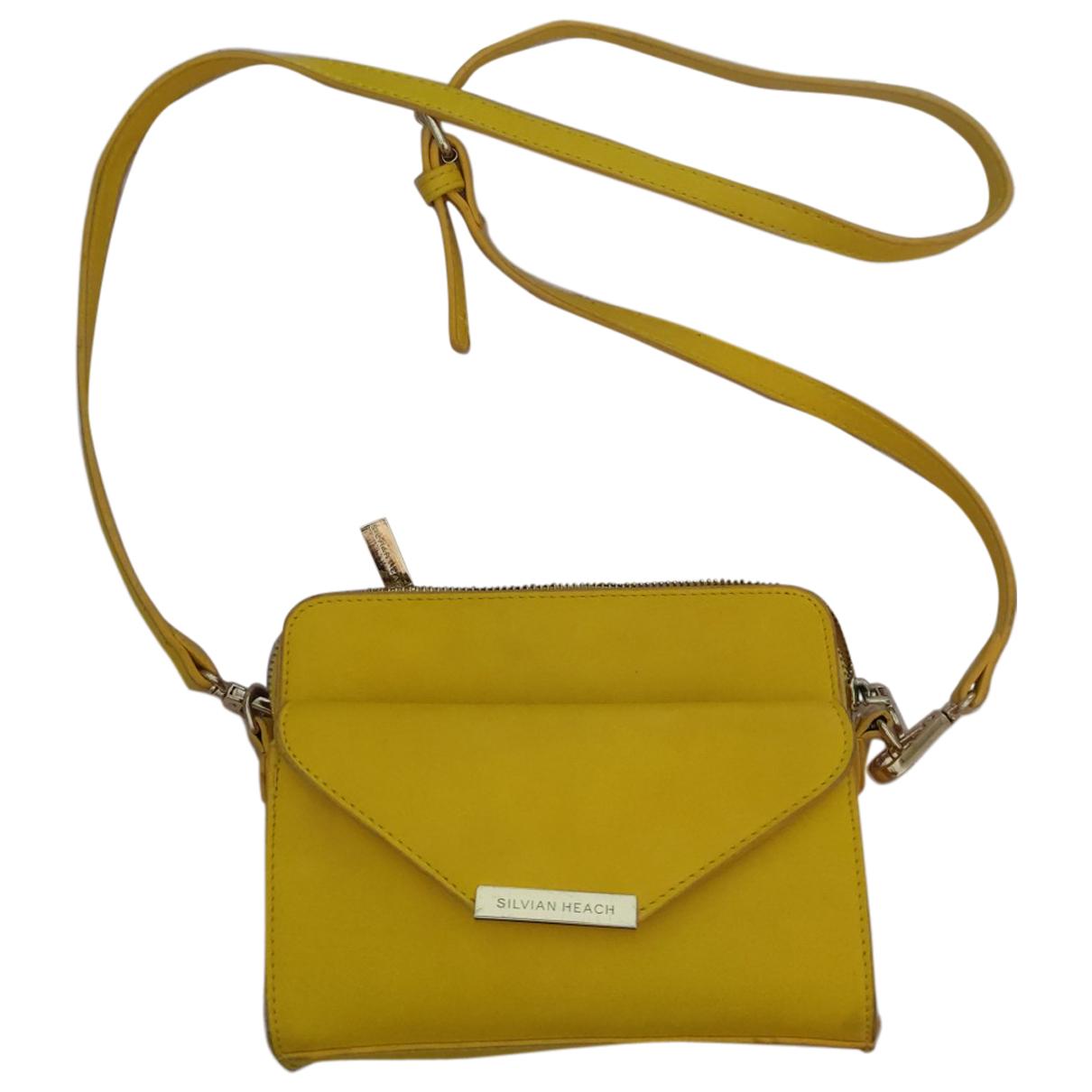 Silvian Heach \N Handtasche in  Gelb Leder