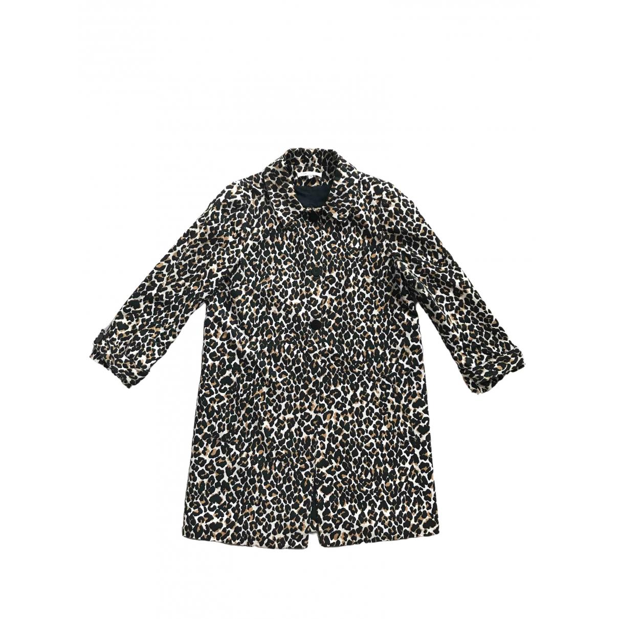 Maje \N Multicolour Cotton coat for Women 38 FR