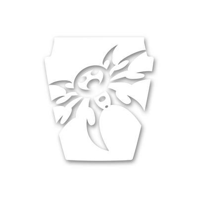 Poison Spyder TJ Mountain Spyder Hood Decal in White (White) - 51-14-010-W