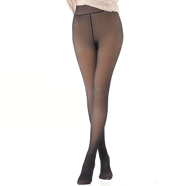 Women Winter Thick Thermal Fleece Lined PU Stretchy Leggings Pants Elastic Pantyhose Stirrup Legging