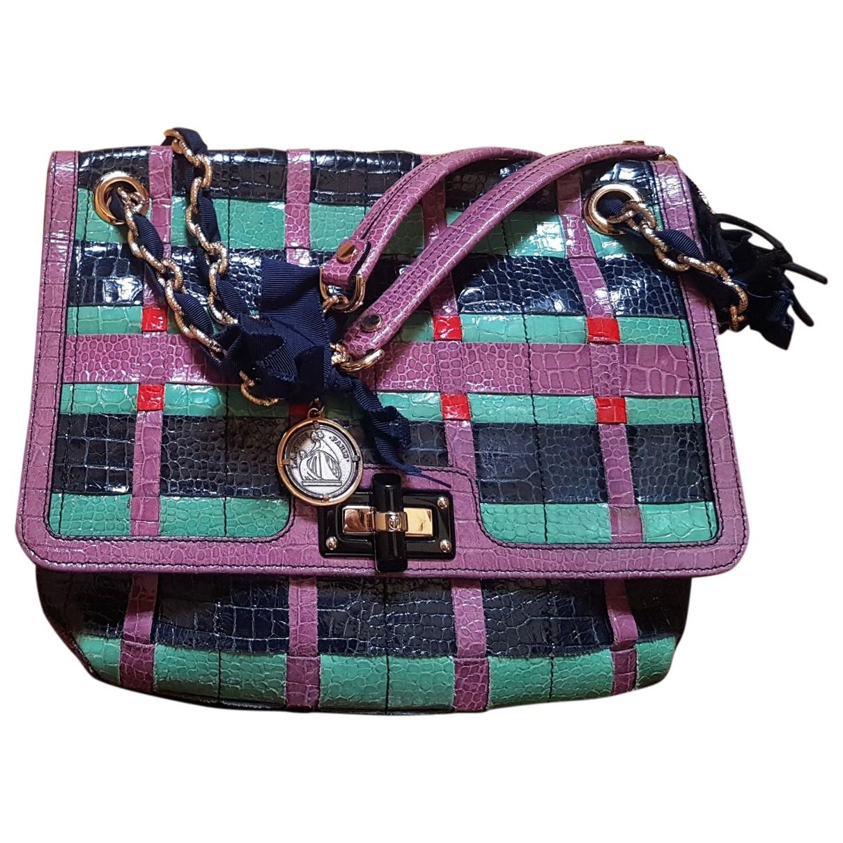Lanvin Happy Handtasche in  Bunt Leder