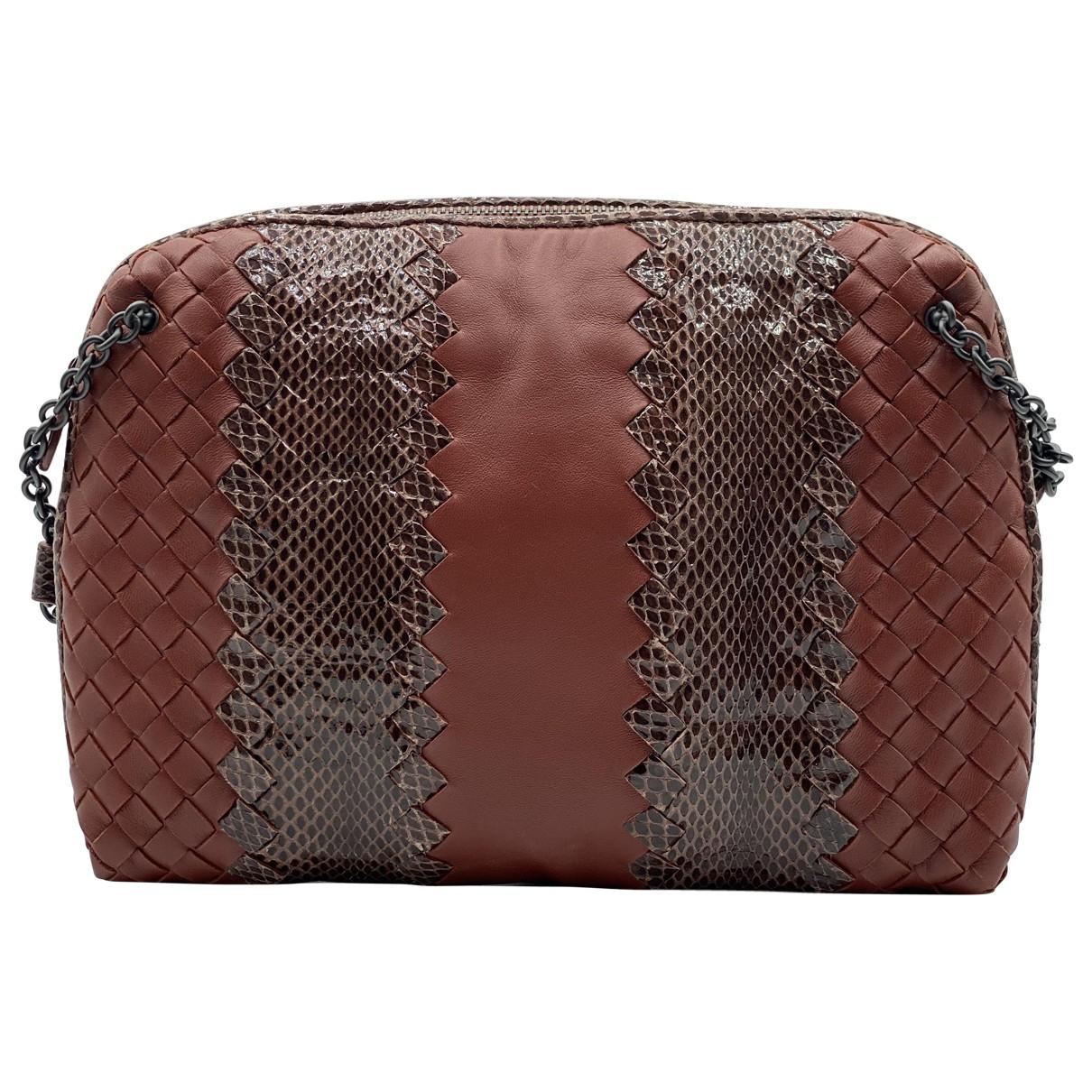 Bottega Veneta Nodini Burgundy Leather handbag for Women \N