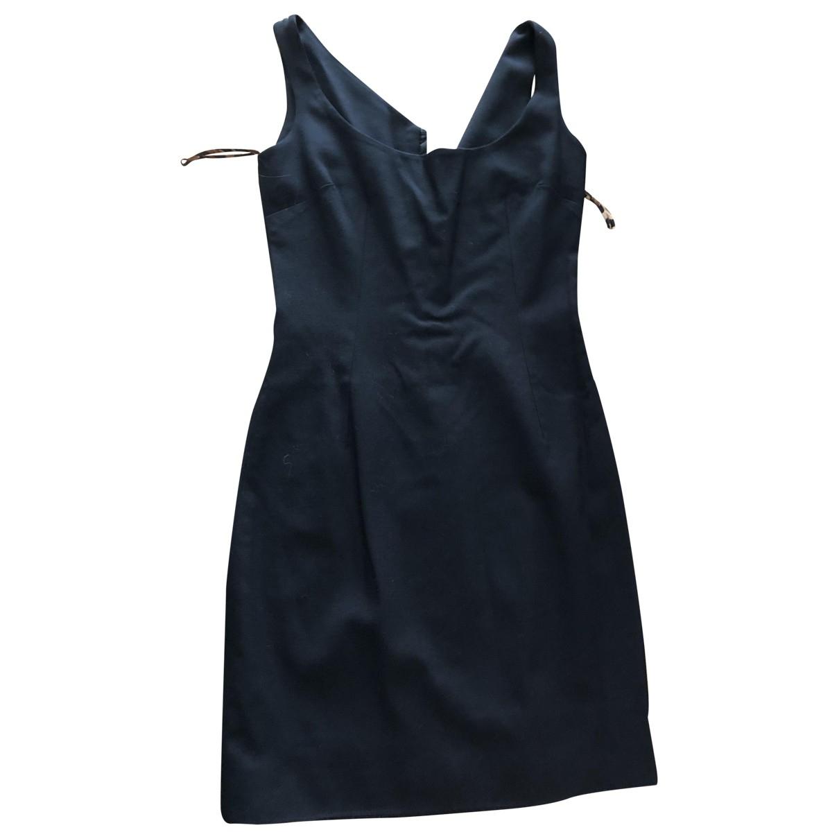 Dolce & Gabbana \N Kleid in  Schwarz Wolle