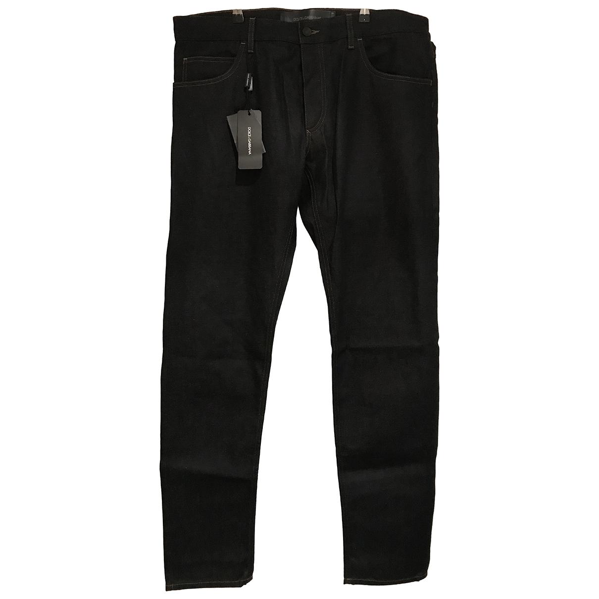 Dolce & Gabbana \N Navy Cotton Jeans for Men 36 US