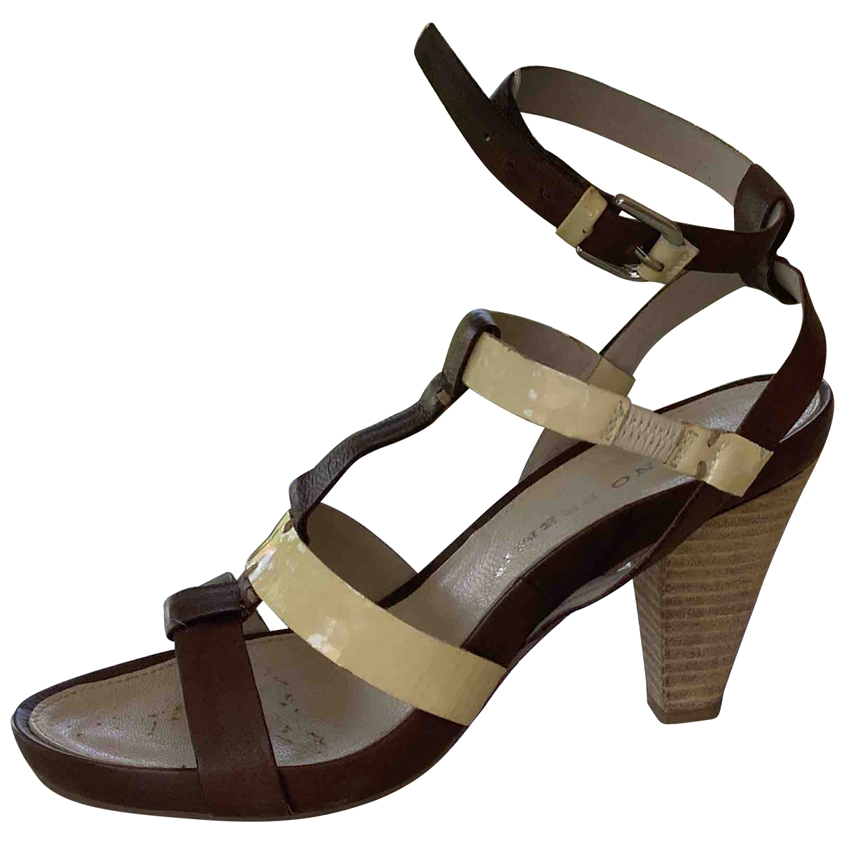 Non Signé / Unsigned \N Brown Leather Sandals for Women 39 EU