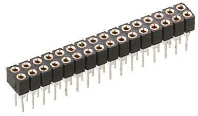 Preci-Dip , 833 2mm Pitch 20 Way 2 Row Straight PCB Socket, PCB Mount, Solder Termination (5)