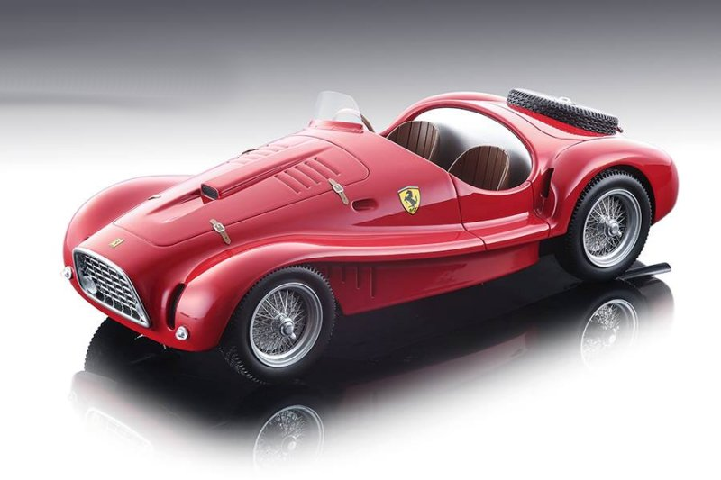 Ferrari 225 S Spyder Vignale 1952 Press Version (Rosso Corsa) Red Mythos Series Limited Edition to 150 pieces Worldwide 1/18 Model Car by Tecnomodel