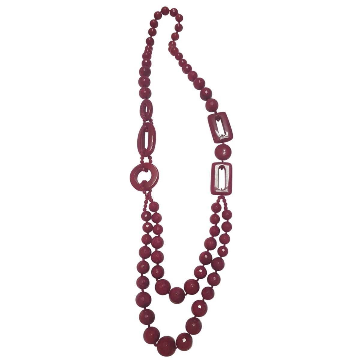 - Sautoir   pour femme en perles - rouge