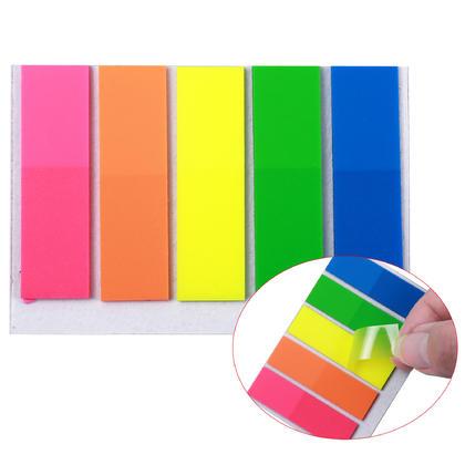Indicateurs d'onglet d'index de forme carr ee - Moustache@ - 1/paquet, 4,4 x 1,27 cm, 5 couleurs x 25 feuilles