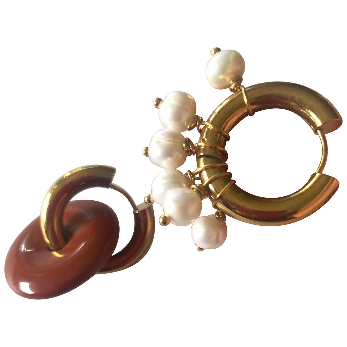Timeless Pearly - Boucles doreilles   pour femme en plaque or - dore