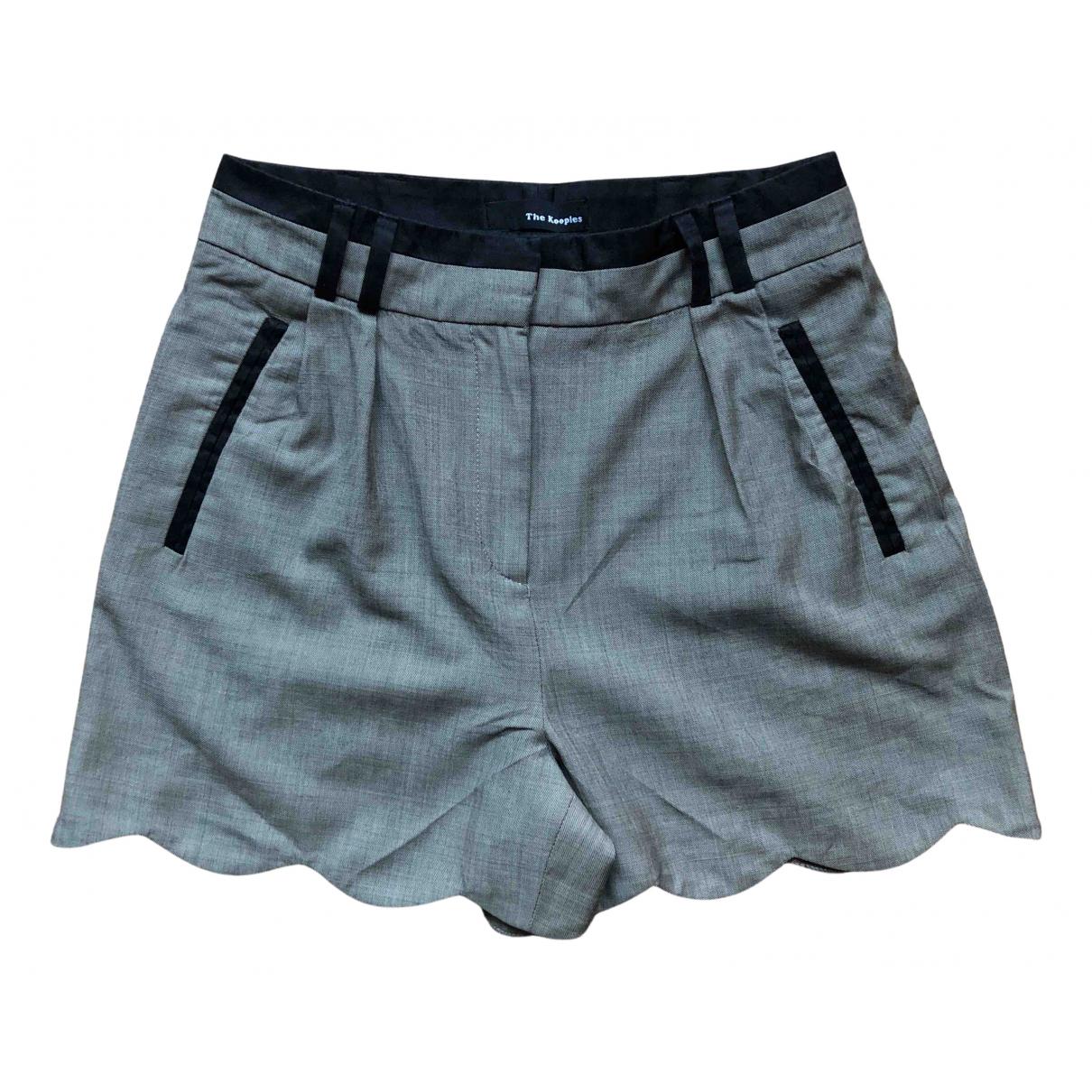 The Kooples \N Shorts in  Grau Baumwolle