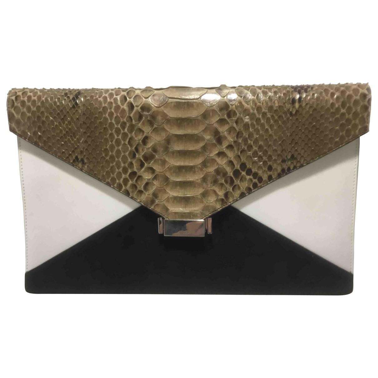 Celine Diamond Clutch Clutch in  Kamel Python