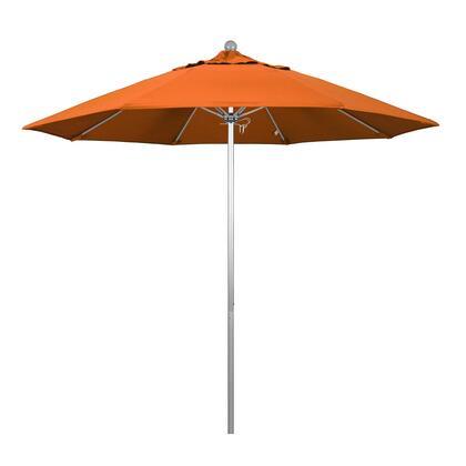 ALTO908002-SA17 9' Venture Series Commercial Patio Umbrella With Silver Anodized Aluminum Pole Fiberglass Ribs Push Lift With Pacifica Tuscan