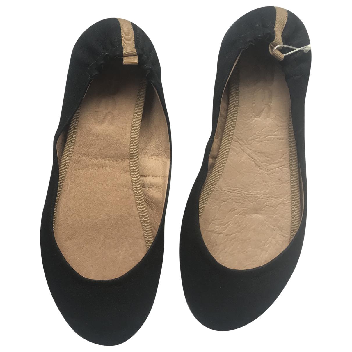 Eres - Ballerines   pour femme en cuir - noir