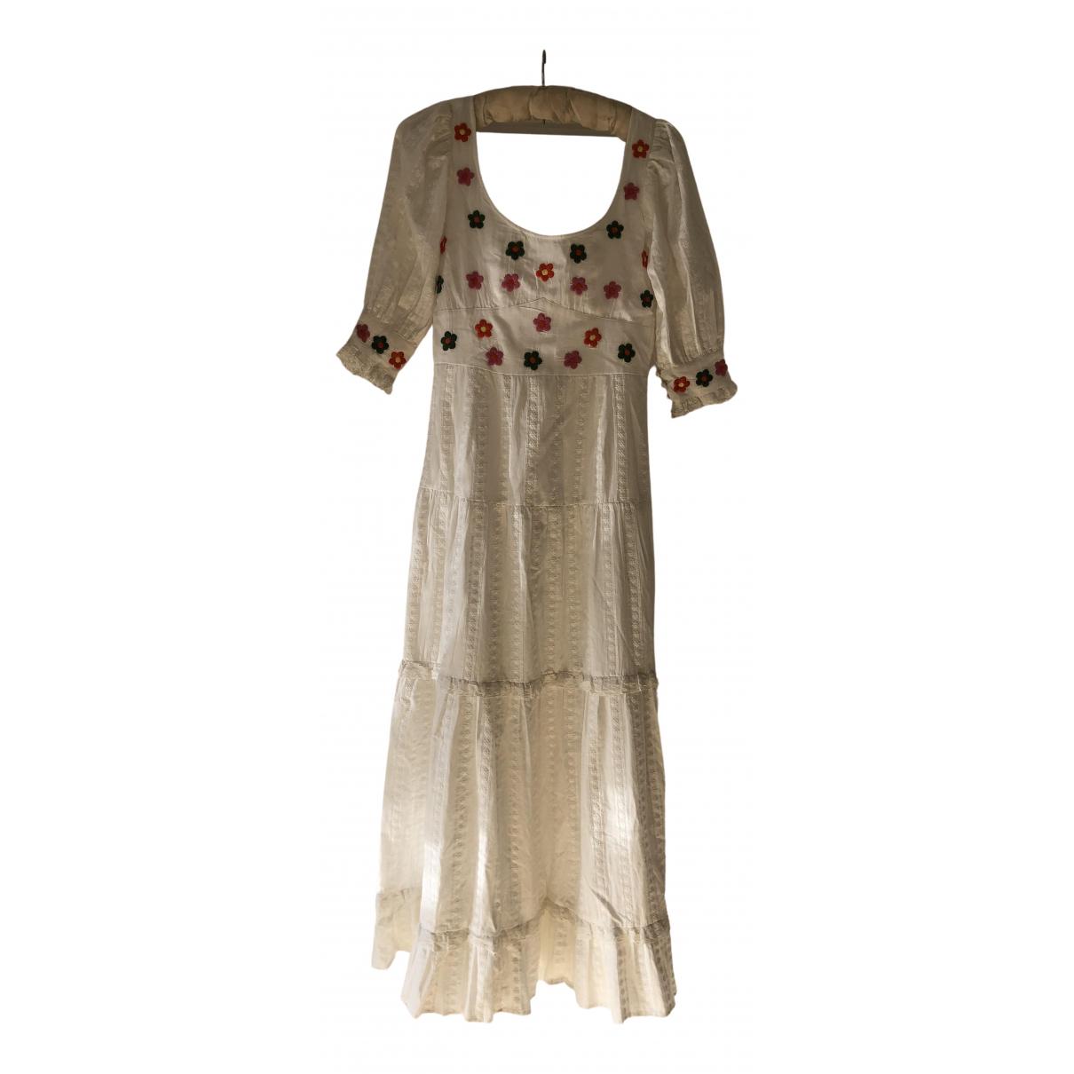 Rixo - Robe   pour femme en coton - blanc
