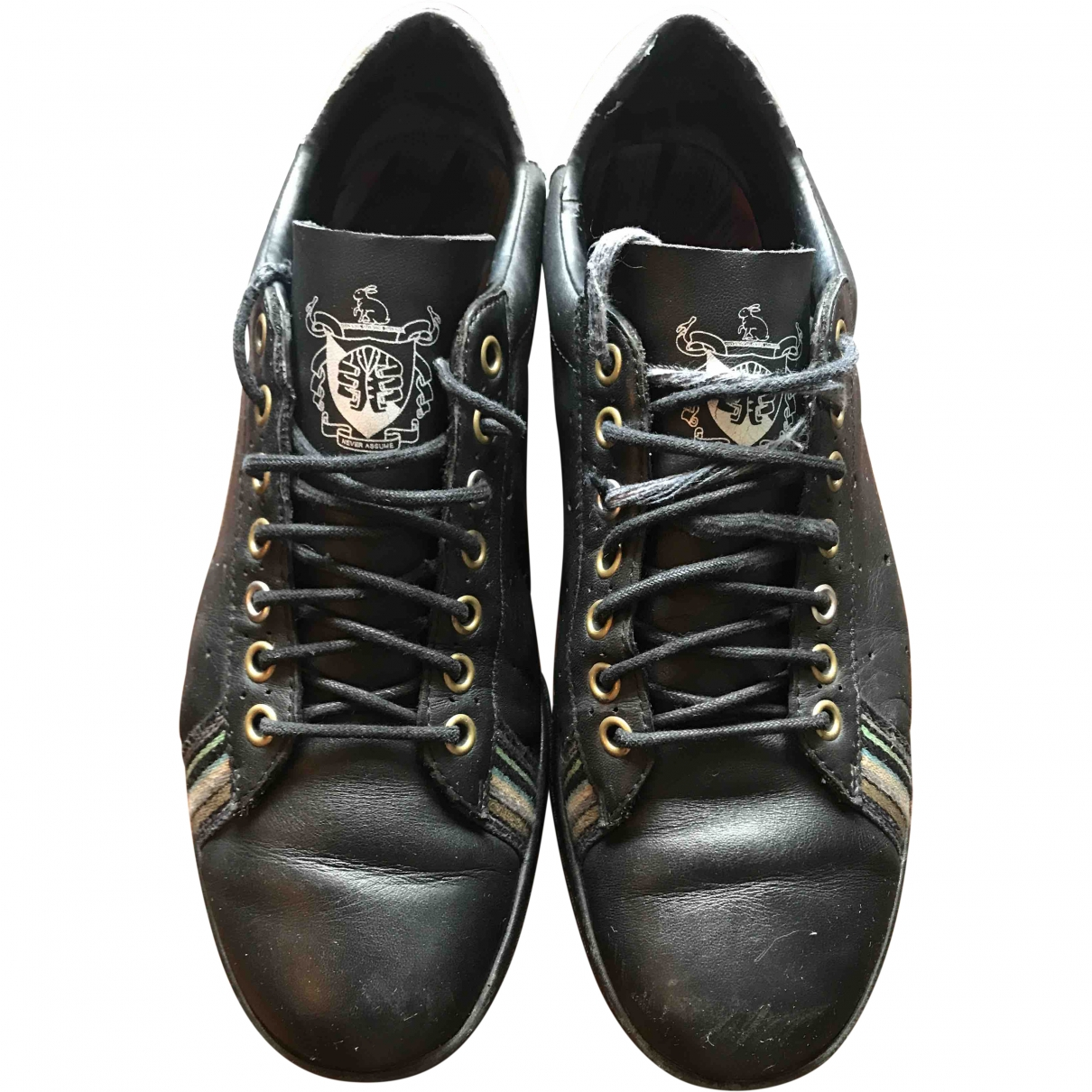 Paul Smith \N Black Leather Trainers for Men 8 UK