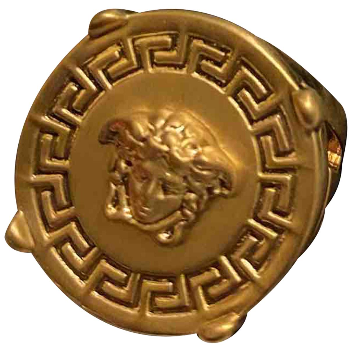 Versace - Bijoux Medusa pour homme en or et acier - dore