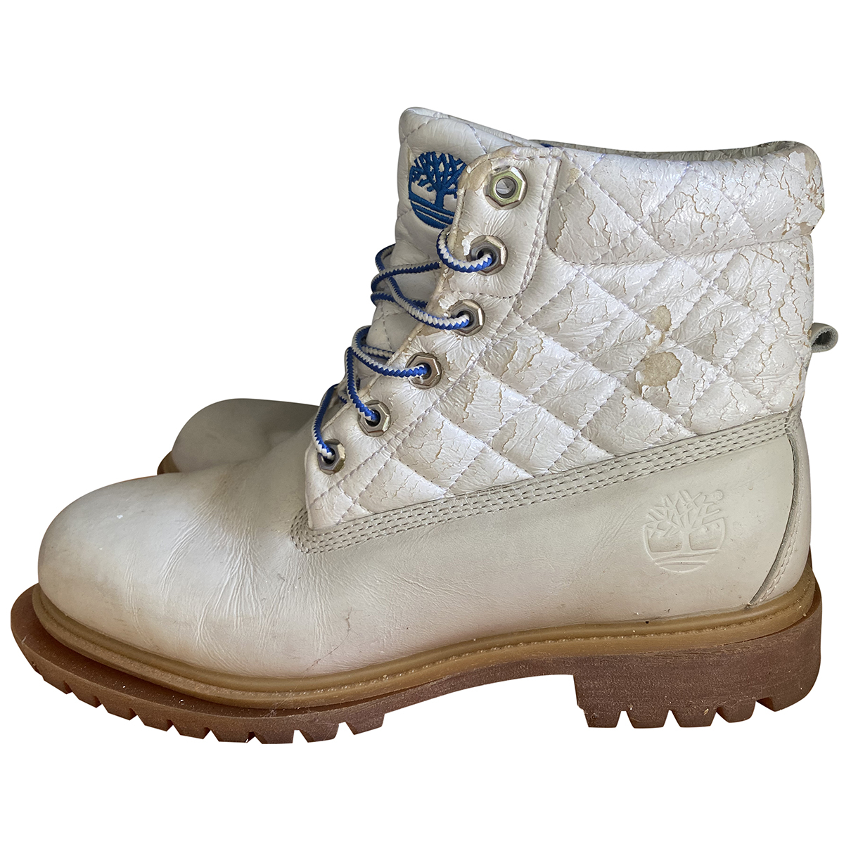 Timberland \N White Leather Boots for Men 42 EU