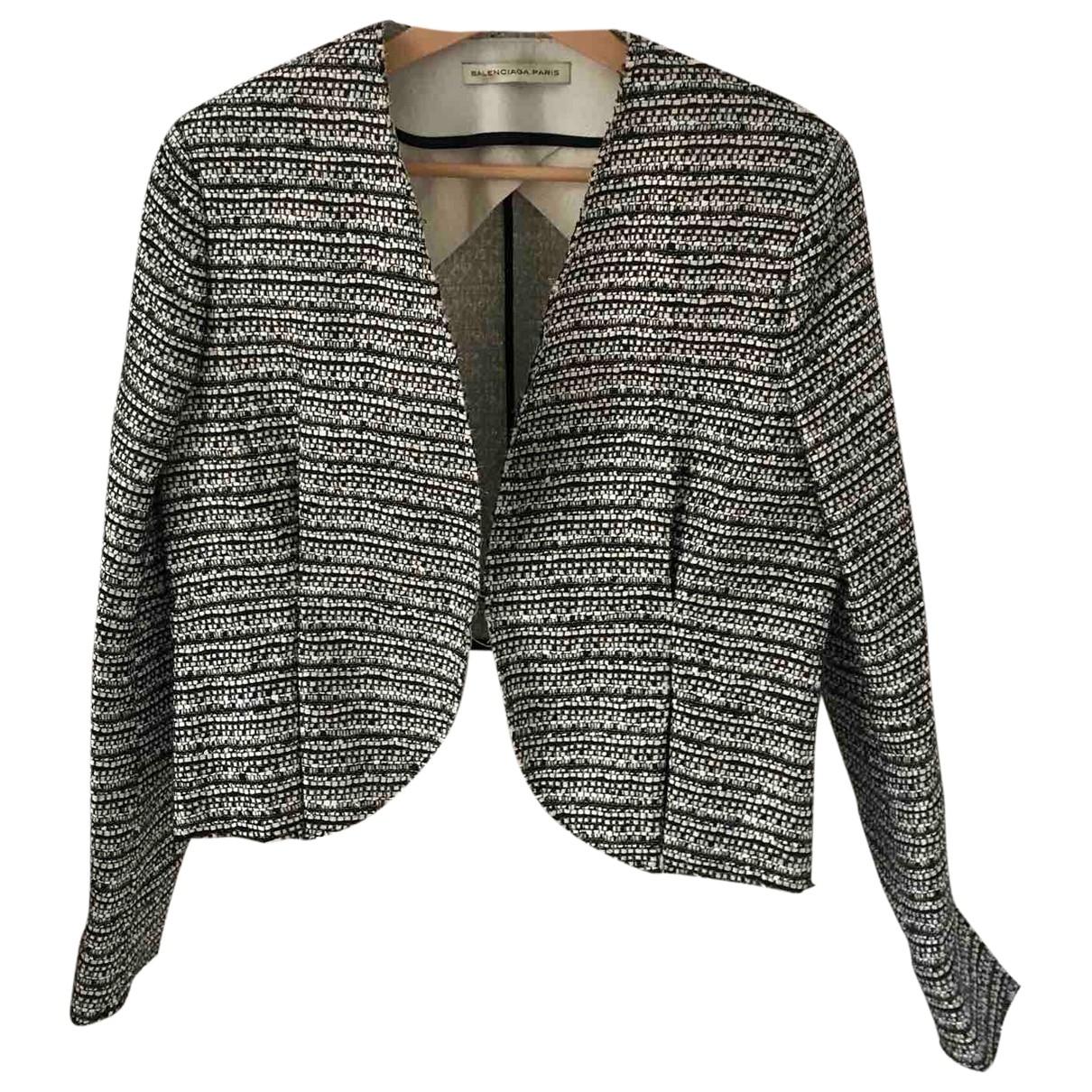 Balenciaga \N Beige Tweed jacket for Women 40 FR