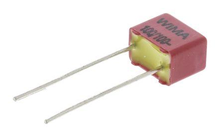 WIMA 100pF Polypropylene Capacitor PP 63 V ac, 100 V dc ±5% Tolerance Through Hole FKP2 Series (10)