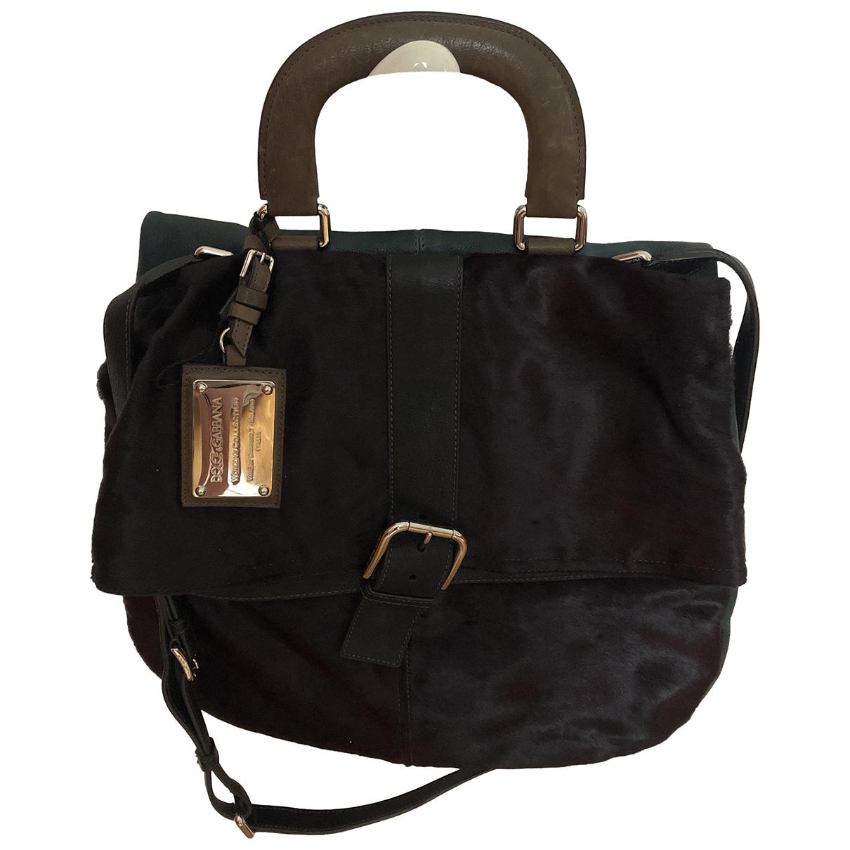 Dolce & Gabbana \N Handtasche in  Blau Kalbsleder in Pony-Optik