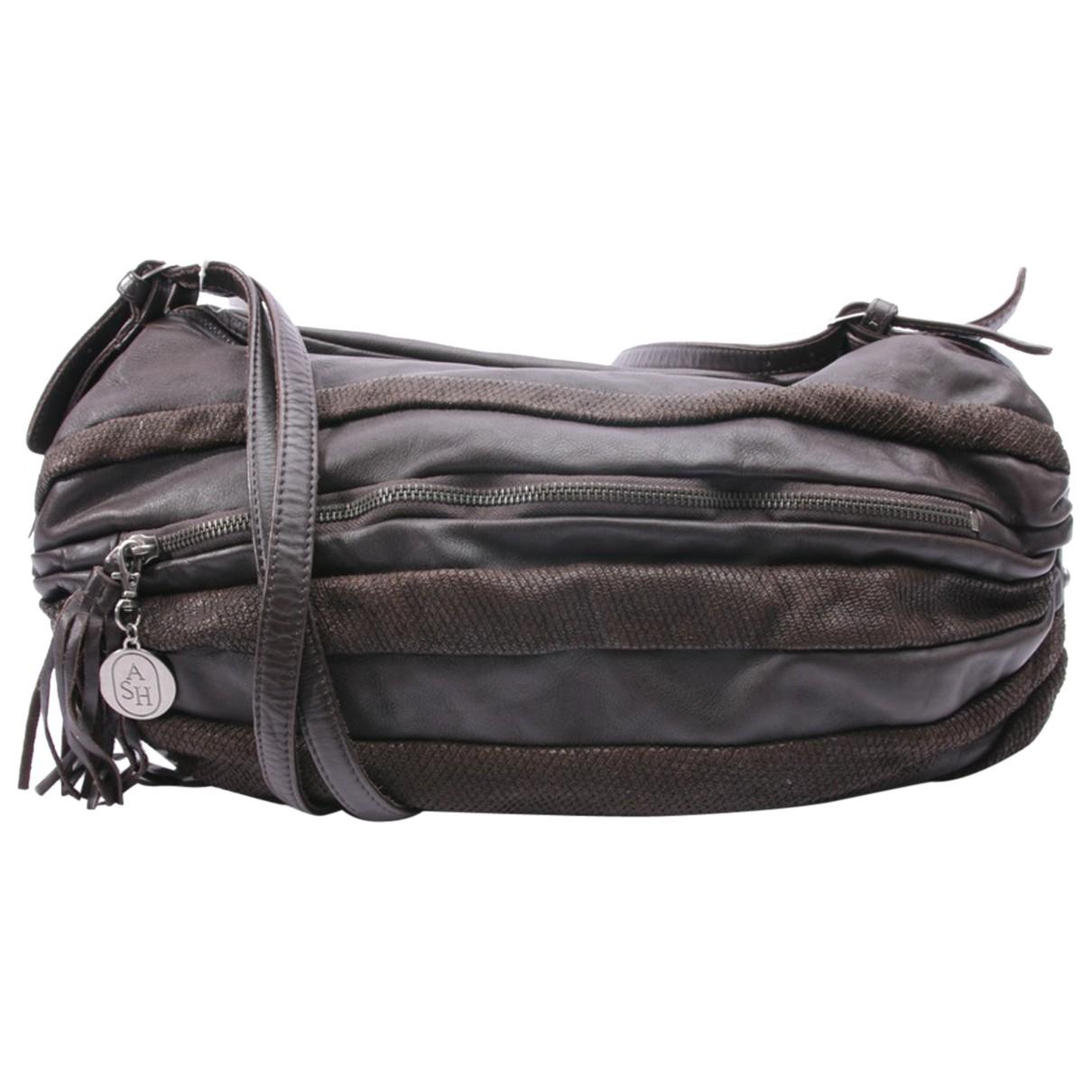 Ash \N Handtasche in  Braun Leder